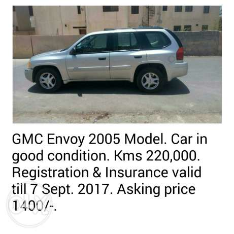 GMC Envoy 2005 OMR 1400/- Negotiable.