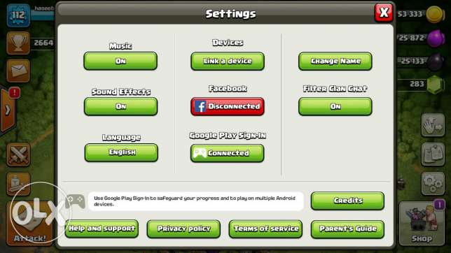 Clash of clans max id