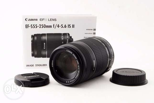 New Canon EF-S 55-250 IS II Camera LENS