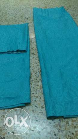 4 curtain set with 3 rods مسقط -  3