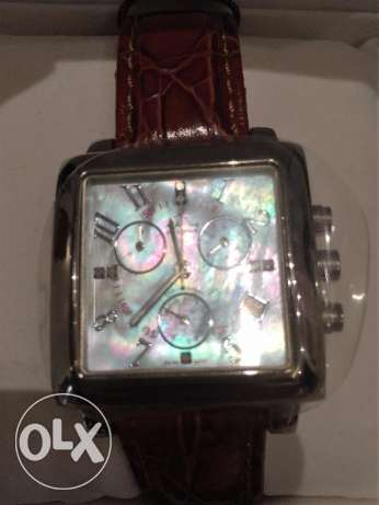 Markus Ruby Chronograph Watch (Pearl Dial)
