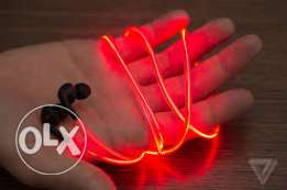 Led earphones available