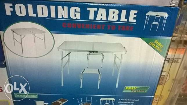 foldable table with chair