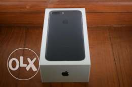 Iphone 7 plus 128 GB Matte Black Box with 12 months warranty