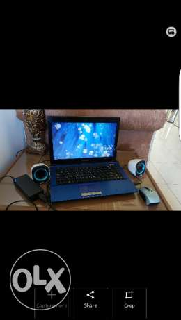 Asus laptop with accessories