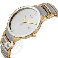 rado watches- 1st copy- white with golden - for gents