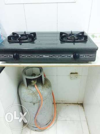 Rinnani Gas stove with the Gas cylinder for sale (One time offer)