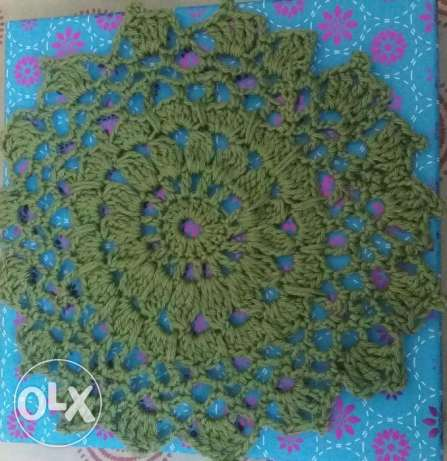 Hand made crochet doilies and coasters