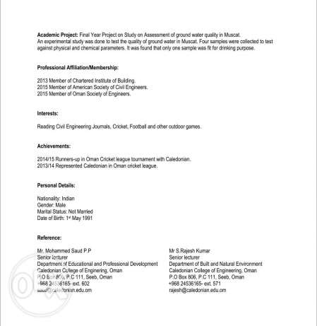 Civil Engineer with BSc Honors looking for job