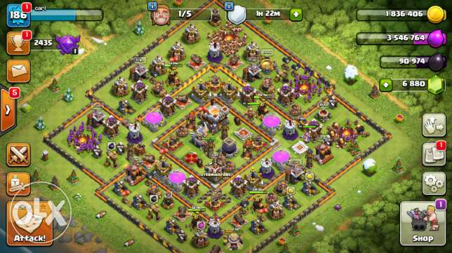 Clash of clans TH 11 account for sale