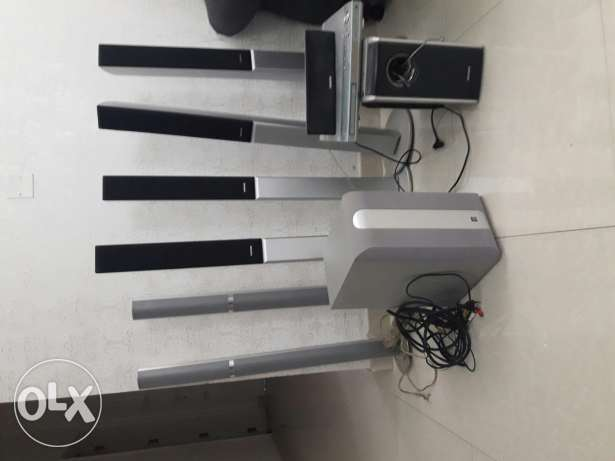 Home theatre system Yamaha speakers bover and Samsung speakers