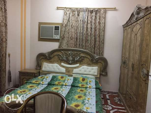 fully furnished room with toilet for rent in al Ghubra