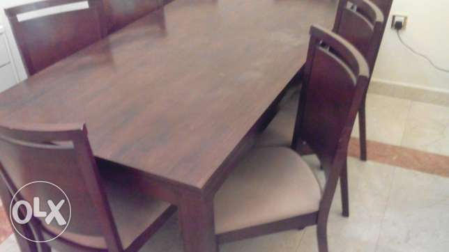 Solid wood dining table 8 chairs مسقط -  1