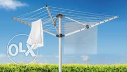 Collapsible Clothesline Outdoor Drying Rack - Hang Wet or Dry