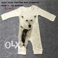 Baby cute cotton boy jumpsuit From 0 - 24 Months ( 7 RO )