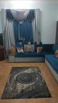 Majlis sofa set, matching curtain,matching peice of a carpet