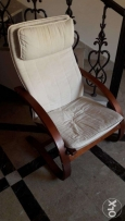 Stylish long wooden chair