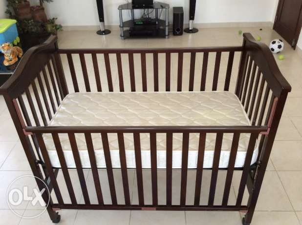 Baby Mobile bed (with mattress), baby high chair and walker-rocker