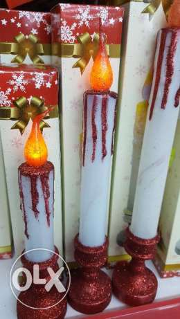 long candles - battery operated- 2 pieces