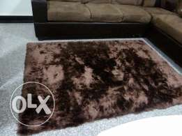 Brown fluffy rug 200cm x 150cm
