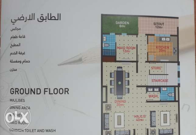 New town house in Jaran complex for rent السيب -  2