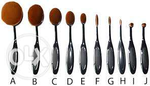 10 pieces make up brush set مسقط -  4