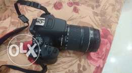 Canon 700D with Lens 18-135 mm
