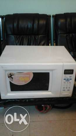 LG microwave oven 50 litres for 25 riyals