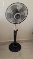 Floor mounted fan with remote control