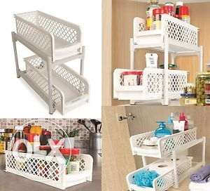basket drawer organizer - 2 layers for multiple purposes