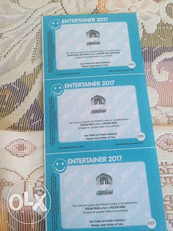 Entertainer voucher for yas waterworld, wild wadi, ski dubai, etc