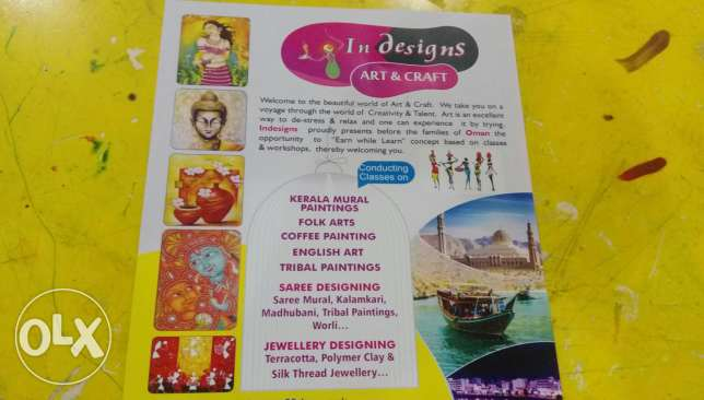 Classes for art and craft,cake &Juice prepration