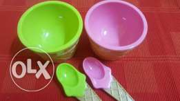 bowl set with spoon- 4 pieces