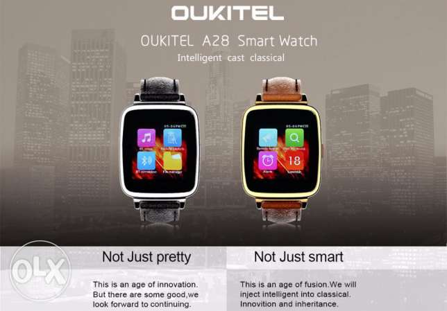 OUKITEL A28 Smart Watch for iOS Android - SILVER مسقط -  3