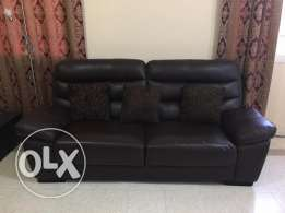 Leather sofa for sale with side tables & center table