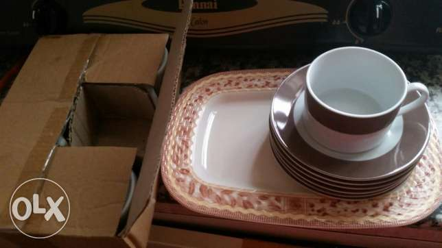 Cup plates and tray