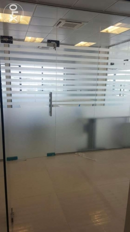 Glass work Glass Front Doors, Office Partitions, Office, Shop Decor مسقط -  1