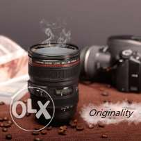 Camera Lens Travel Thermos Stainless Steel Insulated Cup Coffee Mug