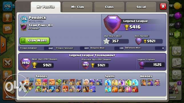 Clash of Clans 2 MAX TH11 ACCOUNT