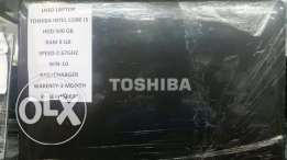 Toshiba i5 8gb ram 500hdd with warranty only 125rials