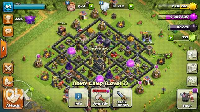 The clash of clan
