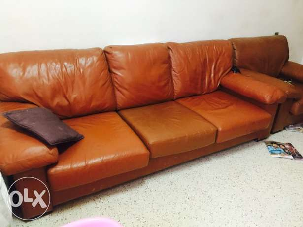 Leather sofa set 3+1+1 RO 80/-