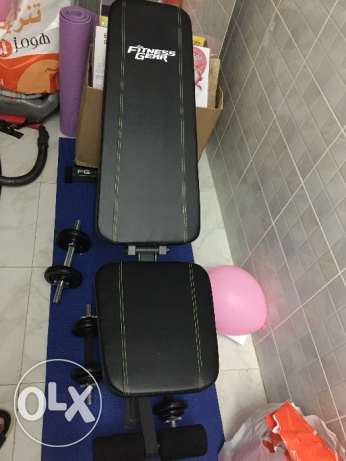 selling bench press and dumbbell مسقط -  1