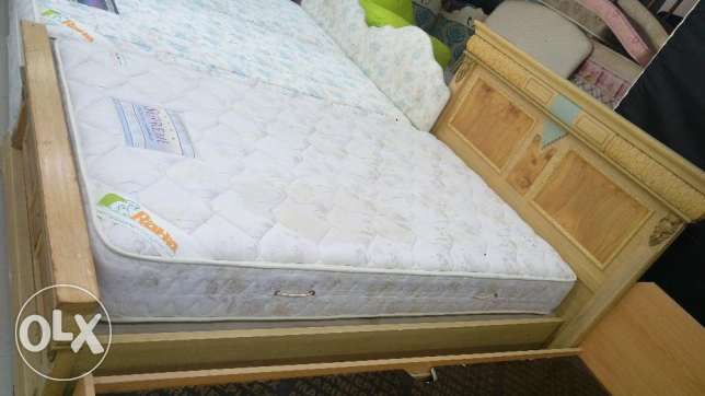 Single bed with orthopedic matres for sale