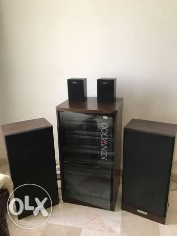 classic KENWOOD music set and LG TV 42in