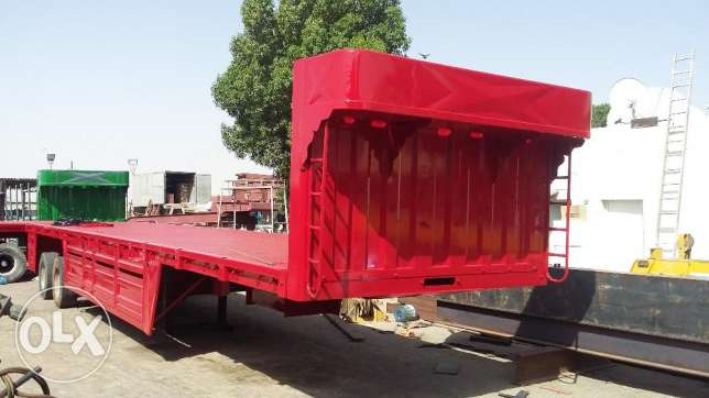 Heavy duty bogie trailers without side Grill with 65 ton warranty