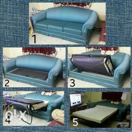 Sofa with foldable bed inside