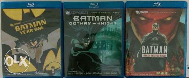 3 Batman Animated Movies (Blu-Ray) (Region Free)