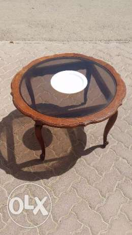 center table wood with glass top