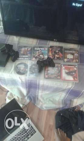 PS3 60 Rial + 9 games + 3 controller